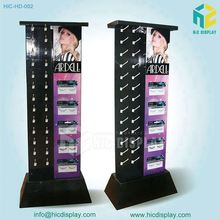 Recyclable Advertising Floor Cardboard Hooks Display Stand