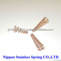 High precision compression coil springs made of stainless steel wire for electric battery made in Japan