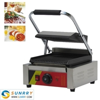 Commercial electric stainless steel panini sandwich grill machine maker (SUNRRY SY-GR62A)