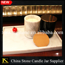 Candlestick Stone Marble Holder/Heat Resistant Marble Candle Jar