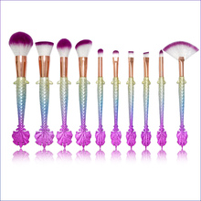 Free Sample 10pcs mermaid Makeup Brush For Face Professional Set Cosmetics Brand Make Up Tools