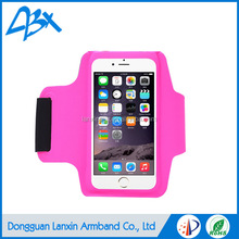 Top quality pink elastic durable super slim running sports armband case for iphone 6s case and iPhone 5/SE