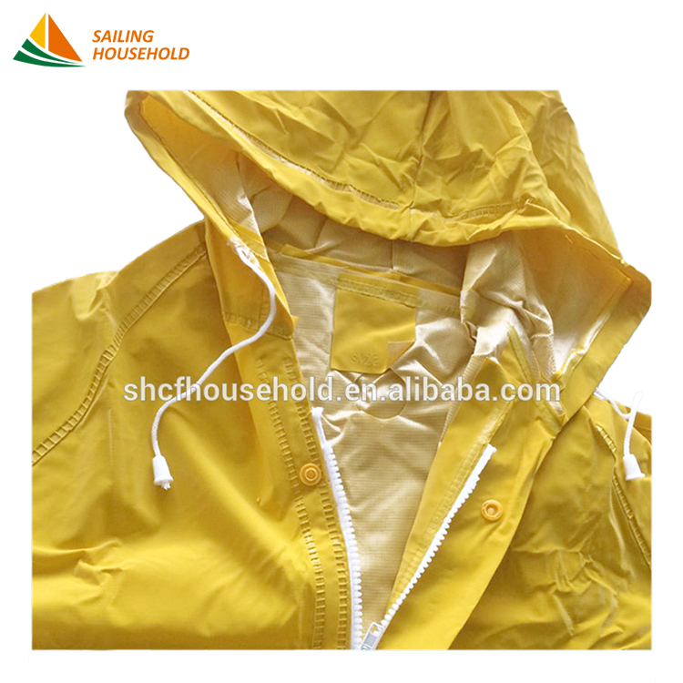 New design pvc rain coat eva raincoats high quality one piece raincoat