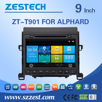 Best selling car accessories for Toyota Alphard car gps player with 800*480 HD digital touch screen, Win CE 6.0 OS, GPS, Radio,