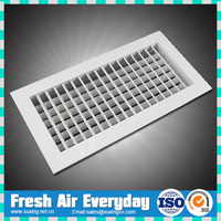 aluminum double deflection supply air conditioning grille with obd