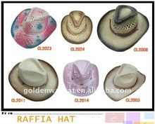 high quality cowboy sombrero straw hat