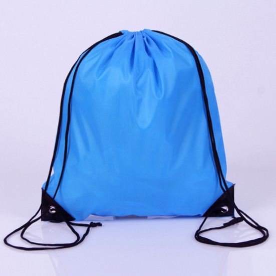 custom outdoor sports hiking camping drawstring back pack polyester bag