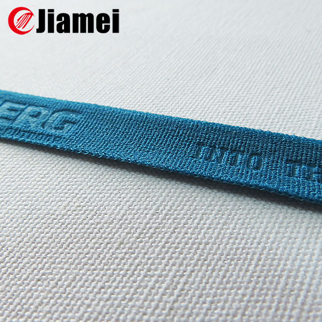 polyester nylon customized webbing logo knitted elastic tape