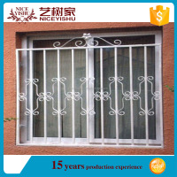 window grill design PVC/aluminum windows design for philippines modern iron window grill design