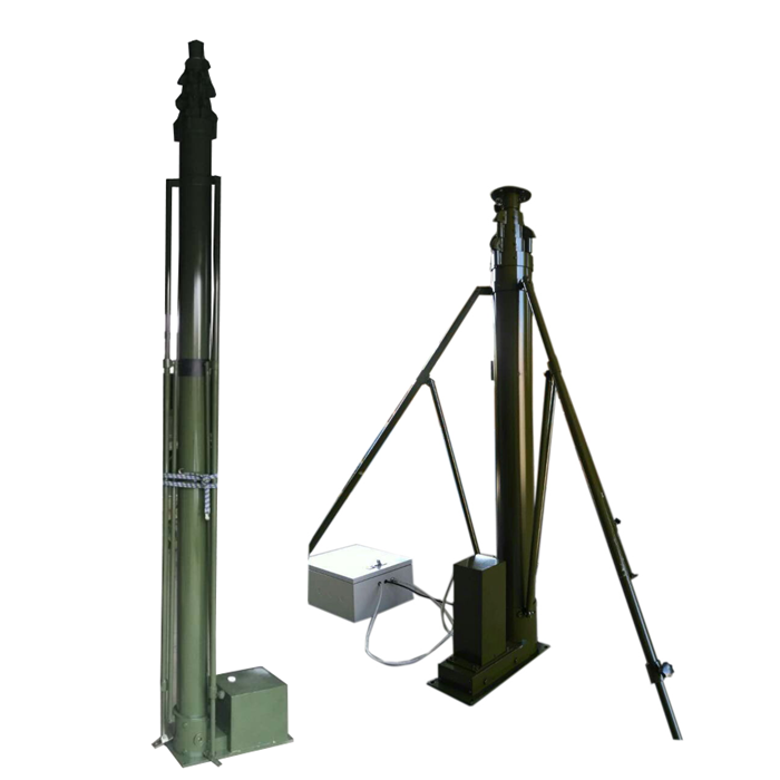 15m power driven telescoping towers for video cameras