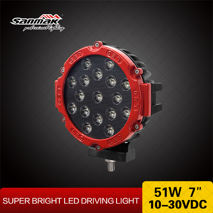 Super Bright Auto Forklift ATV Excavator 51w LED Work Light