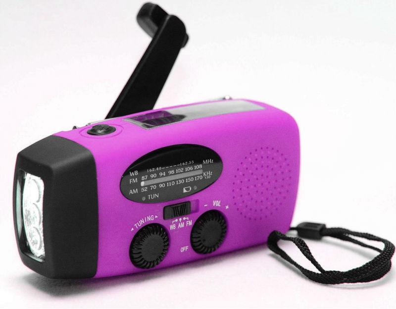 Radio solaire avec lumière dynamo rechargeable Radio/lampe torche dynamo noaa radio - ANKUX Tech Co., Ltd
