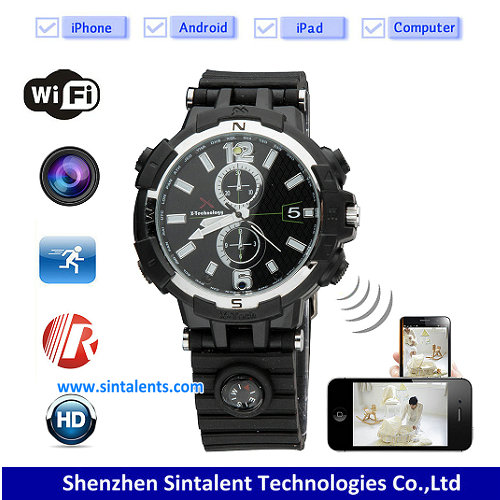 H.264 night vision 720P wrist watch dvr camera 4GB/8GB/16GB watch driver
