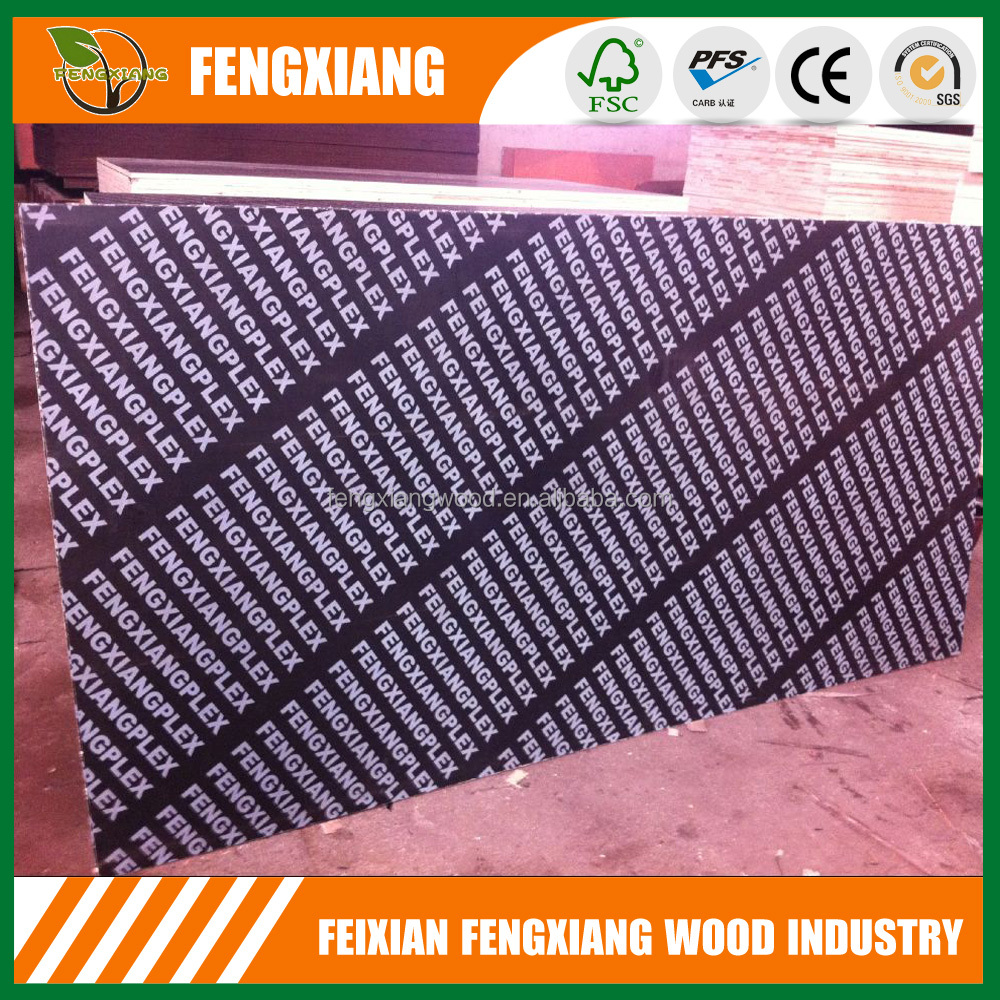 finger joint core film faced plywood, wholesale Black film faced plywood price, 18mm brown film faced