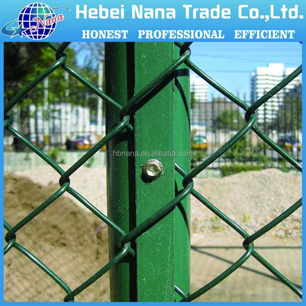 Electro galvanized chain link fence /pvc coated chain link wire mesh / mesh fence