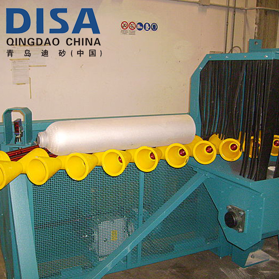 Gas Cylinder Shot Blasting Machine/LPG cylinder Internal Sand Blasting Machine
