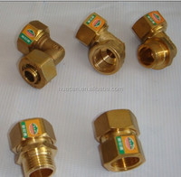 PEX-Al-PEX pipe fitting thread straight connector,brass compression fittings