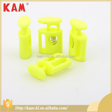 Clothing yellow color bright KAM elastic cord plastic stoppers