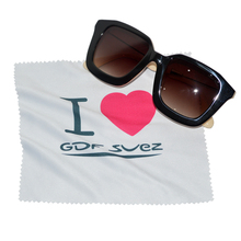 eco-friendly customized logo printed sunglasses wipe with logo