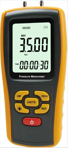 LCD high differential pressure gauge digital manometer for sale