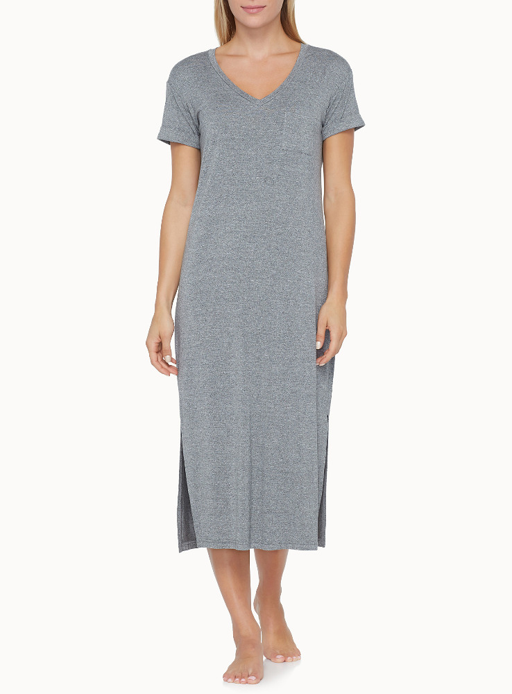 Rayon Jersey Long Tee for Sleep/Night Gown for Women Comfortable Sleepwear