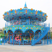 Playground equipment merry go round double decker luxury carousel for sale