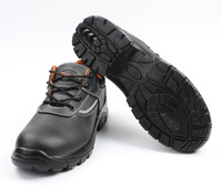 Steel toe metal toe cap 4 man pu injected industrial safety shoes
