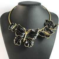 Latest fashion necklace exaggeration butterfly necklace distributor