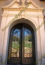 Residential luxury wrought iron entry door for villa