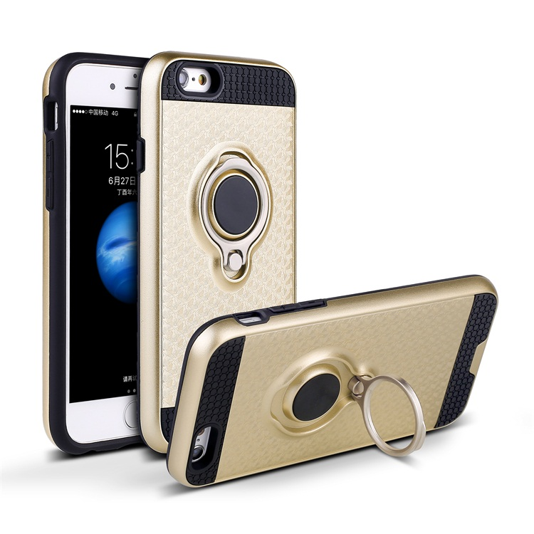 Latest Custom 360 Degree Rotatable Ring Holder Phone Case for iPhone 6