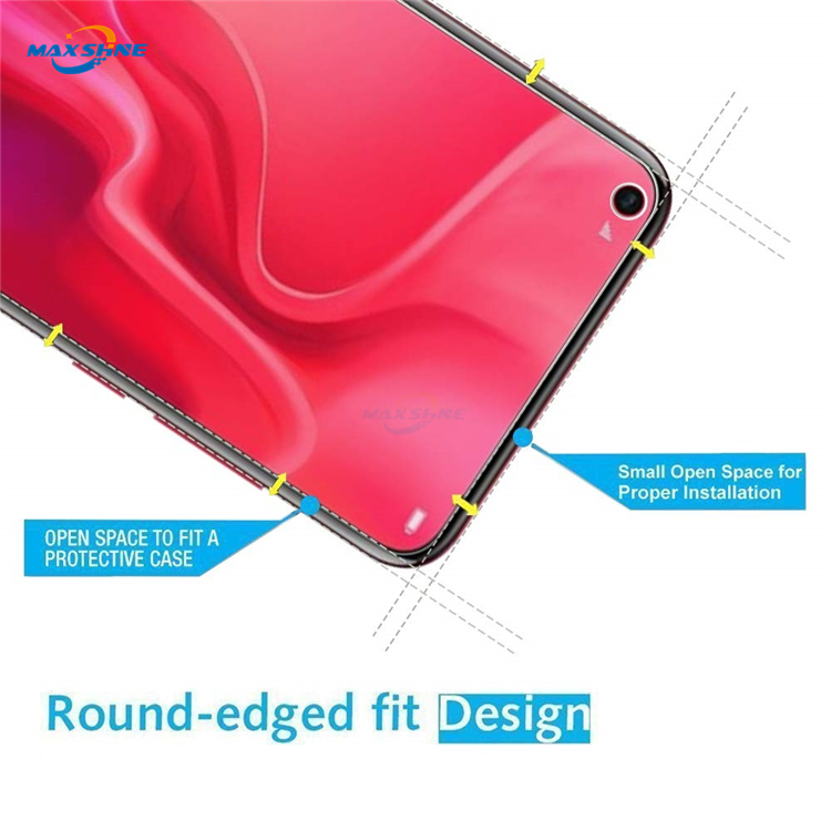 Maxshine 9H Tempered Glass For Huawei Nova 4 Screen Protector Sheet 2.5D 9H