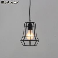 Vintage Metal Cage Industrial Pendant Light Hanging Lamp Chandelier Fixtures E27