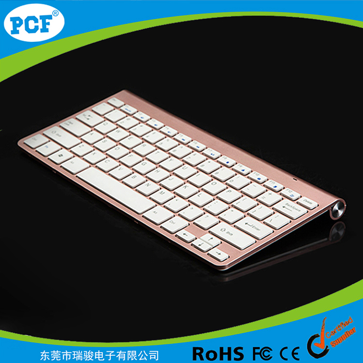 China Cheap Tablets Wholesale 2.4G Ultra Slim Mini Wireless Keyboard Rose Gold Colour For Mac