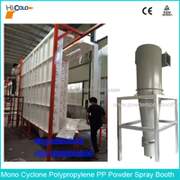 Plastic PP Automatic Mono Cyclone Powder Paint Booth with CE