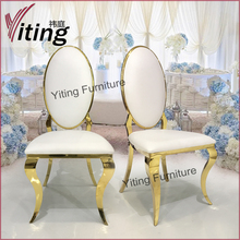Oval egg shape back high back wedding king throne chair