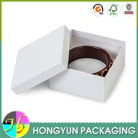 wholesale white cardboard paper box for jewelry