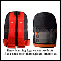 JDM Racing Backpack Backpack+Wallet JDM School Backpack Bag Race Red Strap