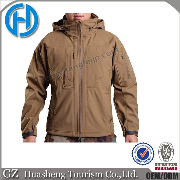 China factory waterproof army camo jackets military tactical soft shell jacket