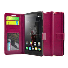mobile phone case leather flip cover wallet case for lenovo-a7010 & k4 note