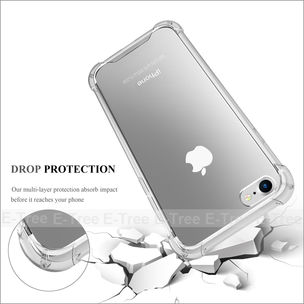 Factory Price Shockproof Dirtproof Durable Hybrid Rubber TPU Waterproof Phone Case For iPhone 7