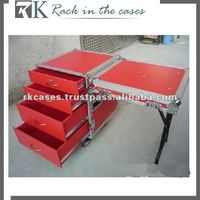 RK 4 drawer Flight Case with Detachable Cover +table