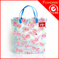 High level pvc zipper quilt shopping bag with clear drawstring