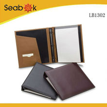 Deluxe Leather Bound 3 Metal Ring Binders