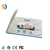 Lcd wedding invitation card/Digital screen video brochure card