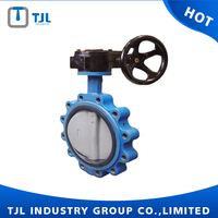 ductile iron ansi flange butterfly valve DN350
