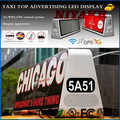 Niyakr 3G/WIFI/GPS/USB Mobile xxx Video WirelessTaxi Roof Advertising Led Board