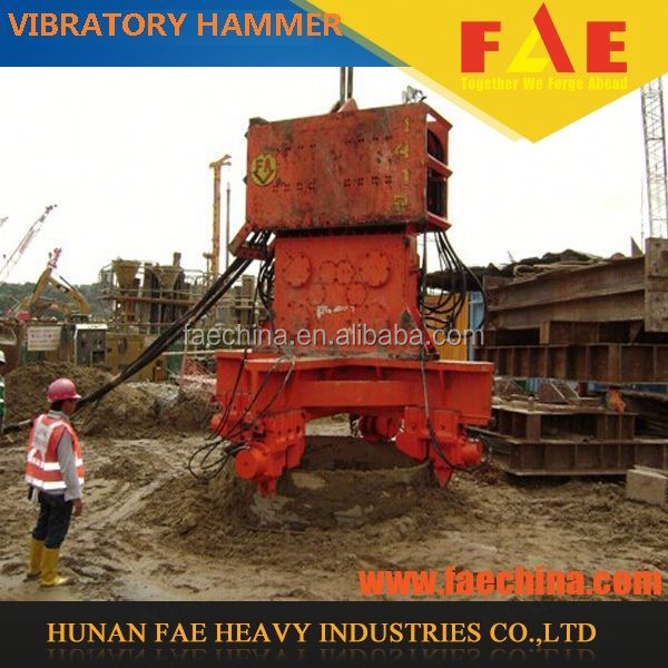 FAECHINA Unique Side Clamp excavator mounted hydraulic vibro hammer in pile driver