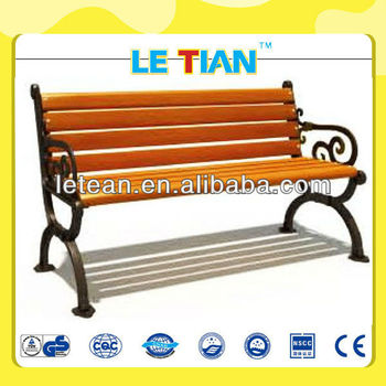 AMAMZING!!!PATIO CAST IRON WOOD BENCH OUTDOOR CHEAP PARK BENCH LT-2121H