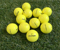 3 Layers Golf Ball Yellow, Surlyn Golf Ball Tournament by Fantom with 320 Dimples