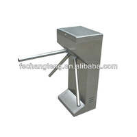manual automatic vertical tripod turnstile with 304# stainless steel housing